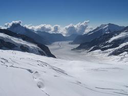 Berge und Schnee